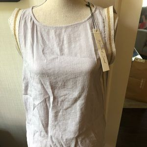 NWT Boutique mustard seed lavender sleeveless top